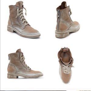 DOLCE VITA Aldis Leather Lace Up Combat Boots